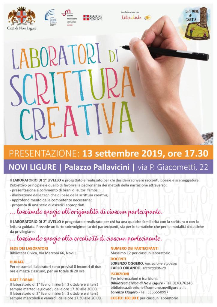 laboratorio scrittura creativa novi ligure
