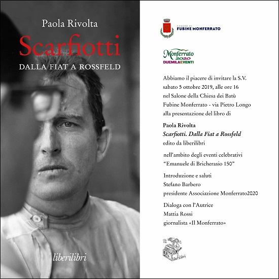 """In occasione della presentazione dell'annullo filatelico, presentazione anche del libro """"Scarfiotti, Dalla Fiat a Rossfeld""""."""