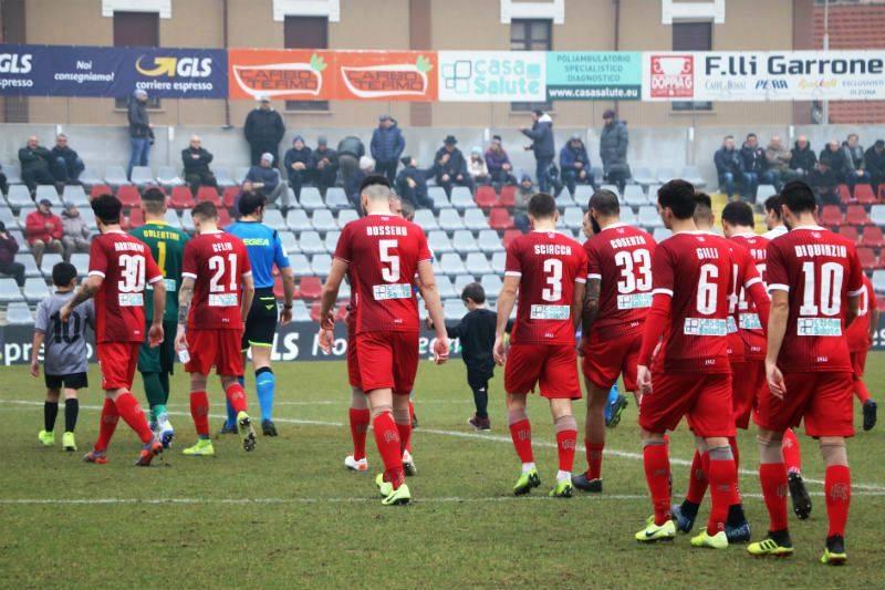 L'Alessandria Calcio scende in campo nella sfida contro la Pianese, nella 24esima giornata di Serie C 2019/2020