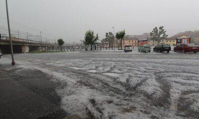 pioggia e grandine a Torino