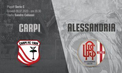 Carpi-Alessandria, match valevole per i playoff di Serie C 2020