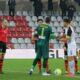 Valentini dell'Alessandria e D'Ambrosio della Robur Siena prima del fischio inizio della sfida valida per la 17a giornata di Serie C 2019/20