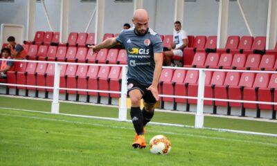 Luca Parodi, calciatore dell'Alessandria Calcio, in azione contro la Pistoiese nella prima giornata di Campionato di Serie C 2020/21
