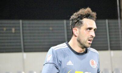 Arrighini, attaccante dell'Alessandria, contro il Piacenza nell'11esima giornata di Serie C 2020/21