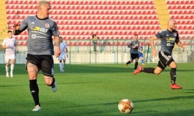 Eusepi in azione durante il match contro il Livorno, valido per la nona giornata di Serie C 2020/21
