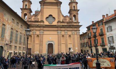manifestazione commercianti Novi