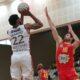 Sanders, giocatore del Derthona Basket, al tiro in una partita contro Ravenna, valida per il primo turno dei playoff di Serie A2 2020/21