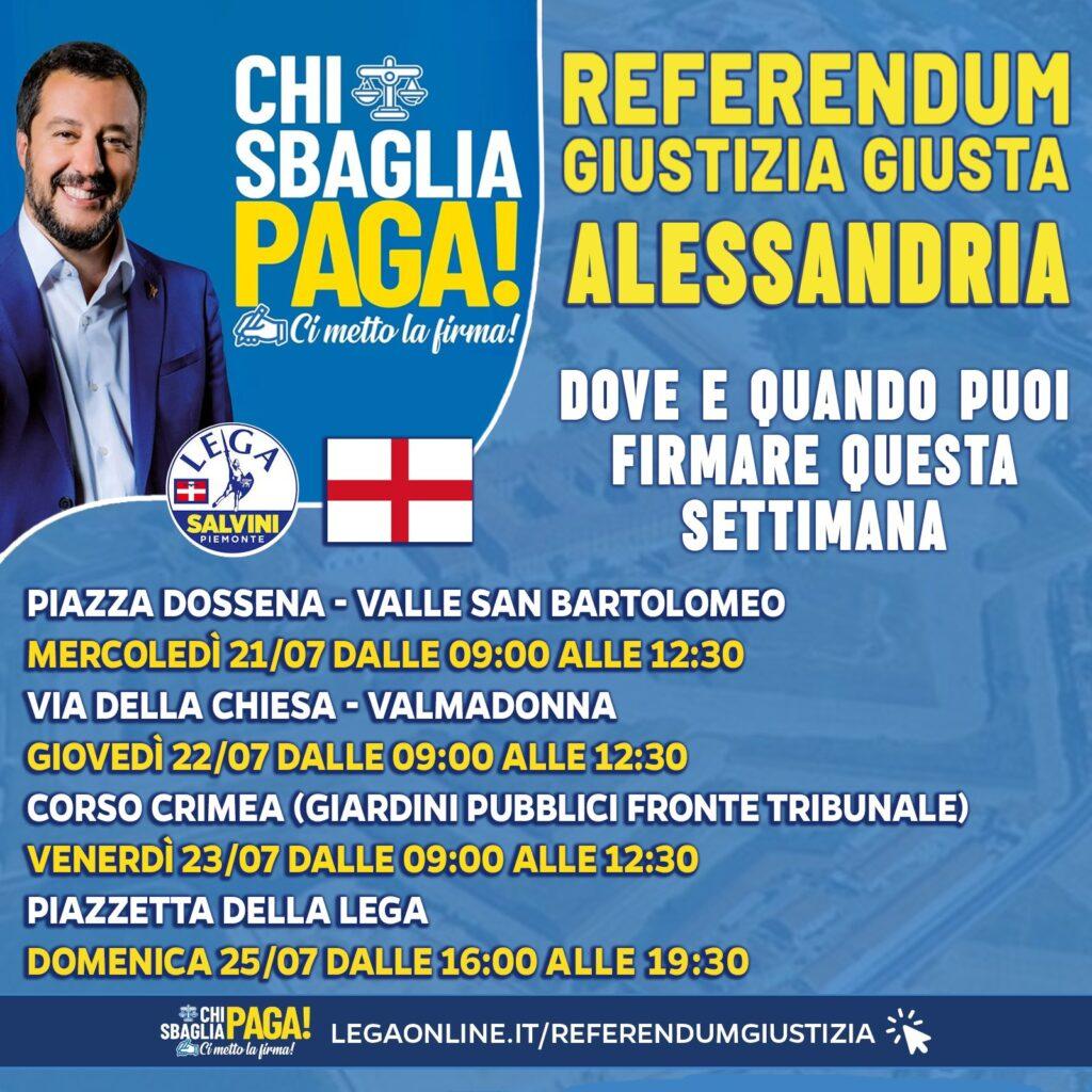 campagna referendaria sulla Giustizia