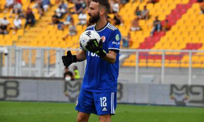 Matteo Pisseri, portiere dell'Alessandria Calcio, durante la partita tra Lecce e Alessandria, valida per la 4a giornata di Serie B 2021/22